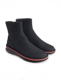 Womens shoes online: Rolling Camper black ankle boot with Michelin sole