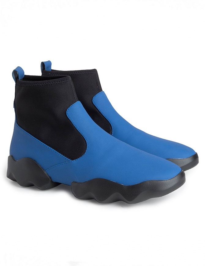 Dub Camper high-top sneakers in black and electric blue K400109-008 MUGELLO womens shoes online shopping