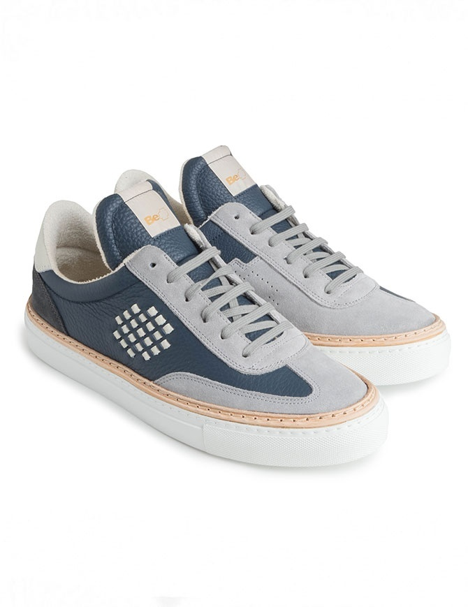 Men's BePositive grey and navy blue shoes 8FARIA14/LES ROXY NVY NAVY mens shoes online shopping