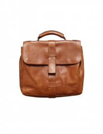 Light brown leather Il Bisonte briefcase D0284