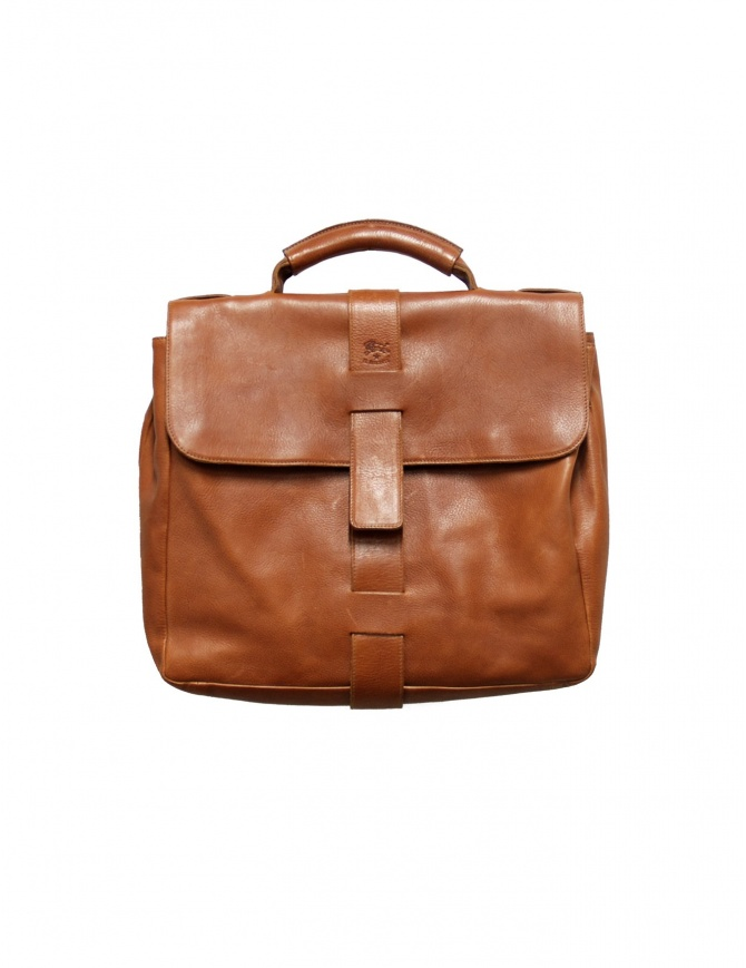 Light brown leather Il Bisonte briefcase D0284 bags online shopping