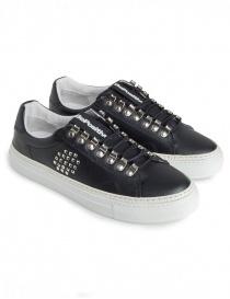 Sneakers BePositive nere con borchie da uomo 8FARIA15/LEA/BLK-TRACK_04