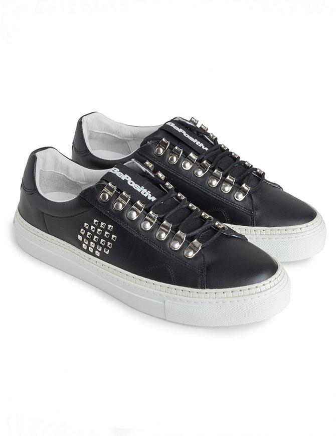 Sneakers BePositive nere con borchie da uomo 8FARIA15/LEA/BLK-TRACK_04 calzature uomo online shopping