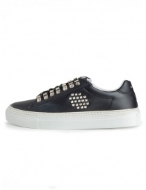 BePositive black studded sneakers for men
