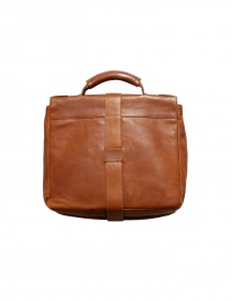 Light brown leather Il Bisonte briefcase
