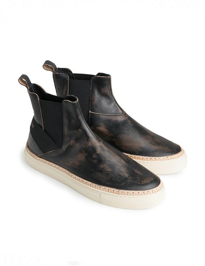 Sneakers Bepositive Track03 slip on alte nere effetto vintage 8FARIA13/BRU/BLK-TRACK03 calzature uomo online shopping