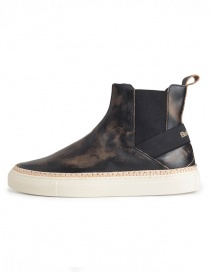 Bepositive Track03 sneakers high slip on black with vintage effect buy online