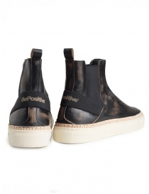 Bepositive Track03 sneakers high slip on black with vintage effect price