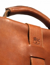 Light brown leather Il Bisonte briefcase bags buy online