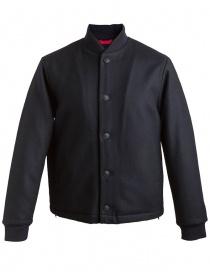 Mens jackets online: Homecore Jr Melt navy blue reversible jacket