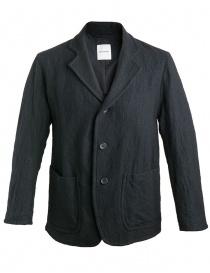 Giacche uomo online: Giacca Sage de Cret nera in lana effetto rugoso