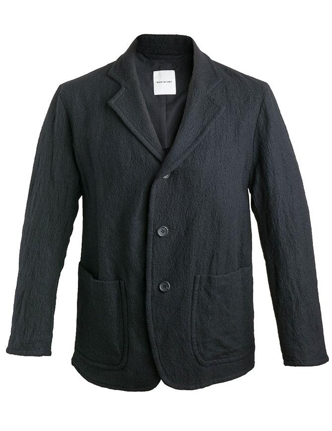 Giacca Sage de Cret nera in lana effetto rugoso 31-80-3062 giacche uomo online shopping