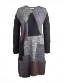 Fuga Fuga Faha Wool Dress black gray brown FAHA123W-81 BLACK