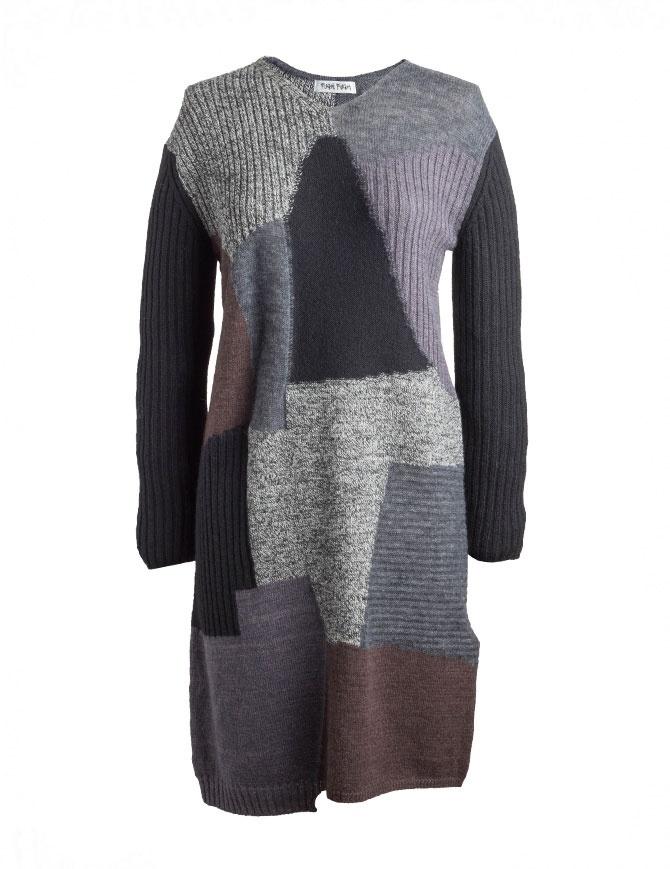 Fuga Fuga Faha black gray brown wool dress FAHA123W BLK DRESS womens dresses online shopping