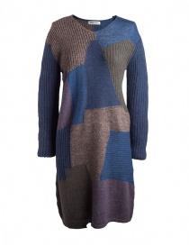 Abiti donna online: Abito in lana Fuga Fuga Faha blu marrone viola