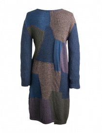 Fuga Fuga Faha blue brown violet wool dress