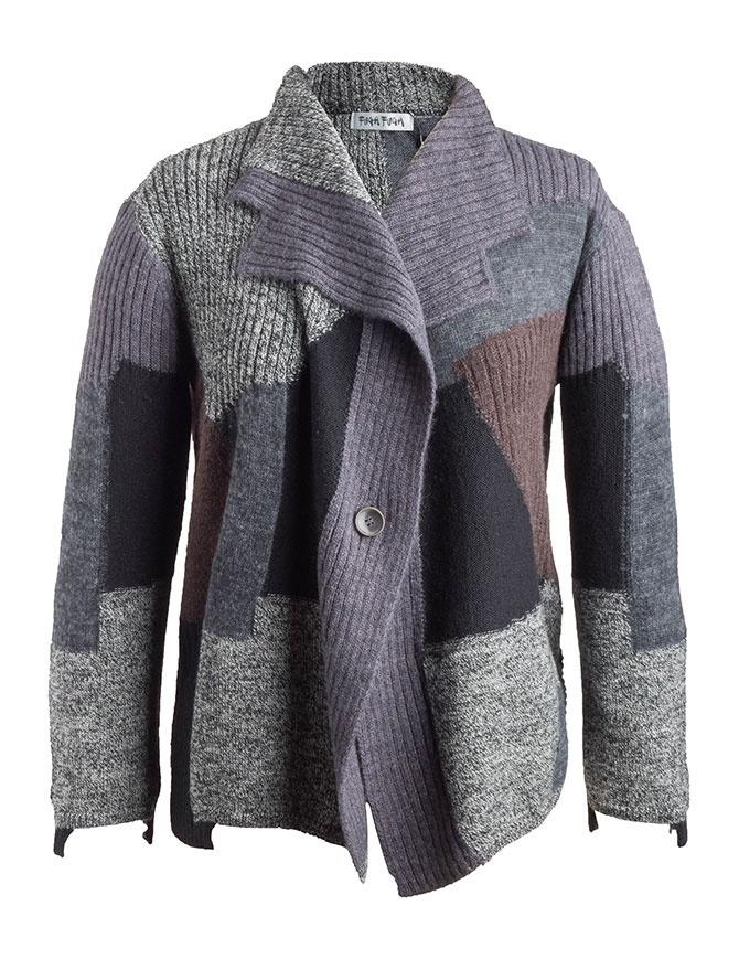 Fuga Fuga Cardigan Faha black gray lavender brown FAHA124 BLACK womens cardigans online shopping