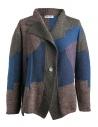 Cardigan Fuga Fuga Faha blu marrone grigio e lavanda acquista online FAHA124W BLUE PULLOVER