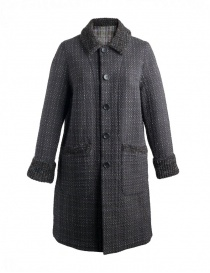 M.&Kyoko Kaha reversible coat black/colored checks KAHA752W-81 BLACK COAT order online
