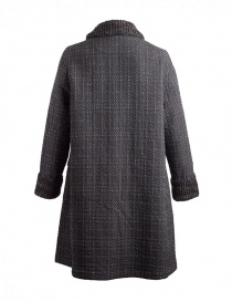 M.&Kyoko Kaha reversible coat black/colored checks