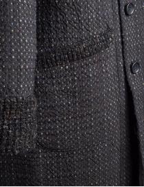 Cappotto M.&Kyoko Kaha reversibile nero con quadri colorati prezzo