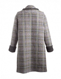 M.&Kyoko Kaha reversible coat black/colored checks womens coats price