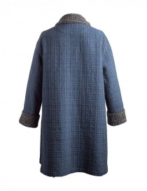 M.&Kyoko Kaha reversible blue coat with colored checks