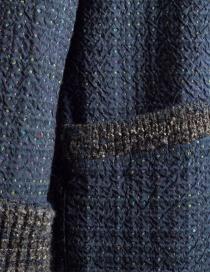 Cappotto M.&Kyoko Kaha reversibile blu a quadri colorati prezzo