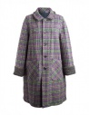 Cappotto M.&Kyoko Kaha reversibile blu a quadri colorati KAHA752W D-BLUE COAT acquista online