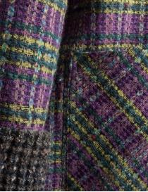 Cappotto M.&Kyoko Kaha reversibile blu a quadri colorati acquista online prezzo