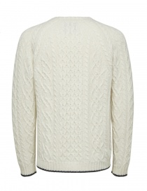 Selected Homme cable knit antique white pullover