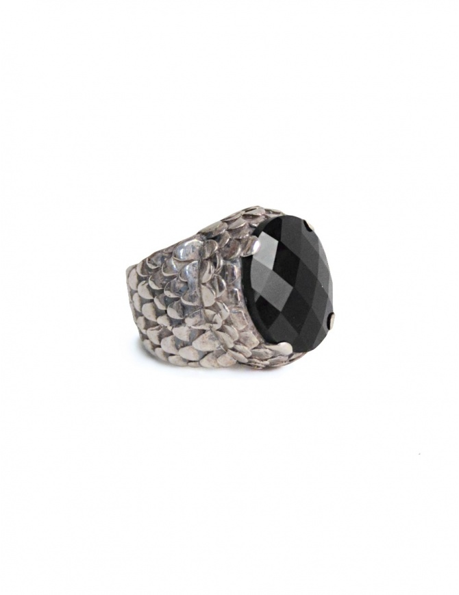 ElfCraft ring with onyx stone 800.838ds-RING-L.61 jewels online shopping