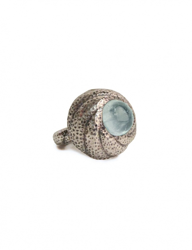 ElfCraft ring with aquamarine stone DF806.833HAM1-RING-L.58 jewels online shopping