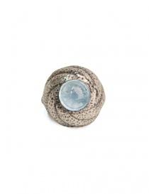 Anello ElfCraft con pietra acquamarina