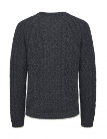 Pullover Selected Homme a trecce grigio melange acquista online