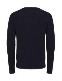 Pullover in lana merino Selected Homme blu navy