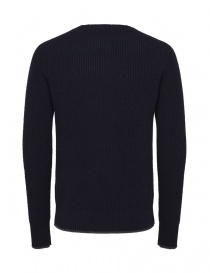 Selected Homme navy blue merino wool pullover