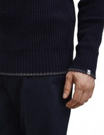 Pullover in lana merino Selected Homme blu navy prezzo