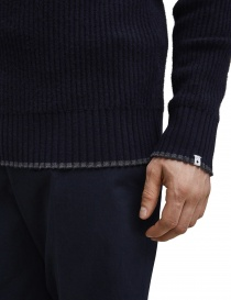 Selected Homme navy blue merino wool pullover price