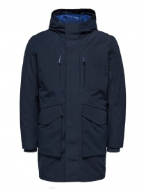 Selected Homme blue sapphire 2-in-1 Parka 16061965 SLHIKE DARK SAP. order online