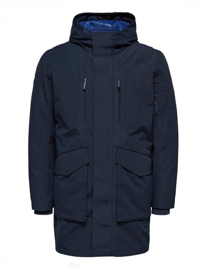 Parka 2 in 1 Selected Homme blu zaffiro 16061965 SLHIKE DARK SAP. giubbini uomo online shopping