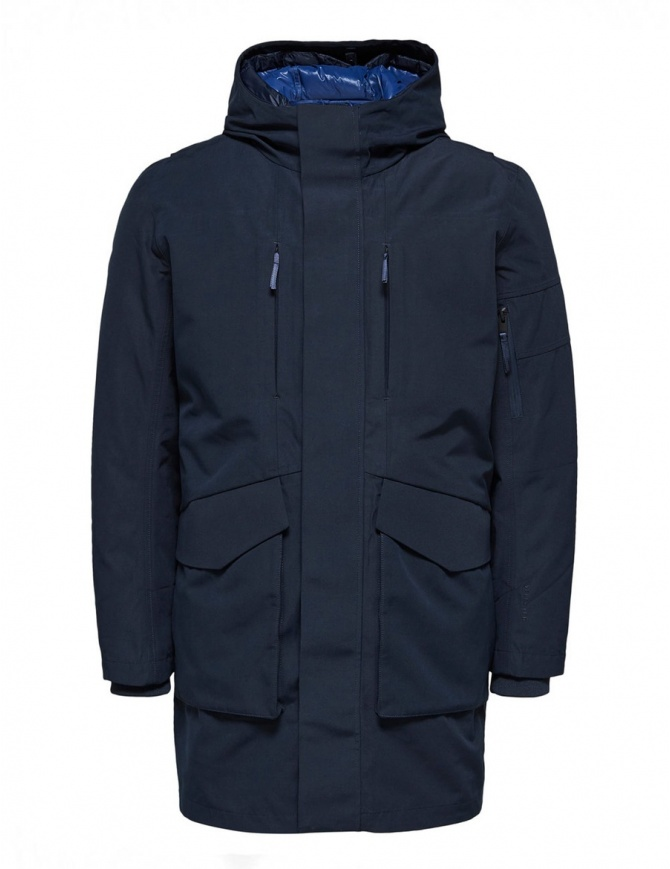 Selected Homme blue sapphire2-in-1 Parka 16061965 SLHIKE DARK SAP. mens jackets online shopping