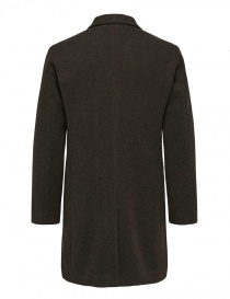 Cappotto doppiopetto Selected Homme marrone scuro