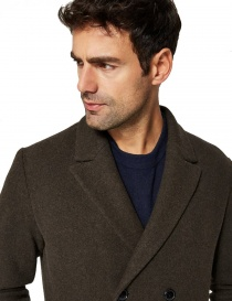 Selected Homme double-breasted dark brown coat price