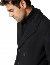 Selected Homme double-breasted black coat price