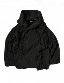 Womens coats online: Kapital Katsuragi Raising Ring black coat