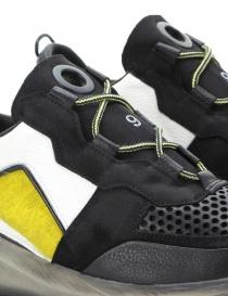 Scarpa Leather Crown Waero nera e gialla calzature donna acquista online