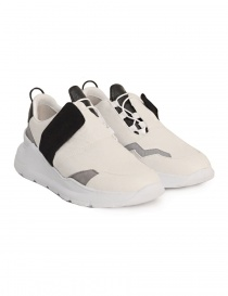 Leather Crown white and black shoes WLCBN-AERO-DONNA order online