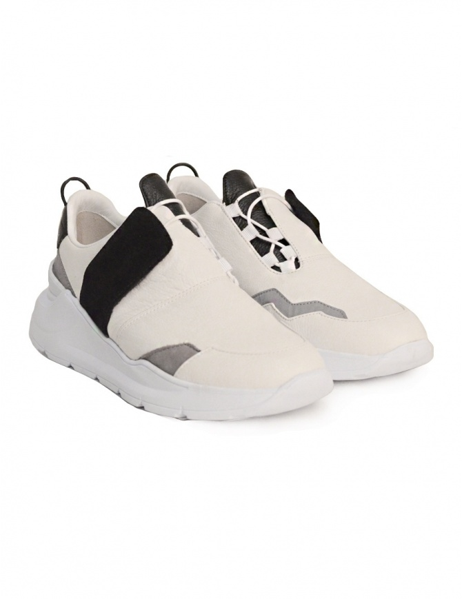Scarpa Leather Crown bianca nera WLCBN-AERO-DONNA calzature donna online  shopping 251af7bf4dc