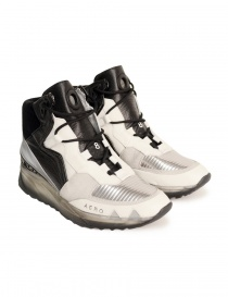 Leather Crown white black high top shoes for women online